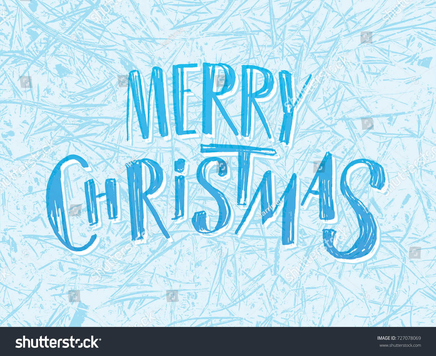 Merry Christmas Lettering Effect Inscription Scratched Stock Vector ...