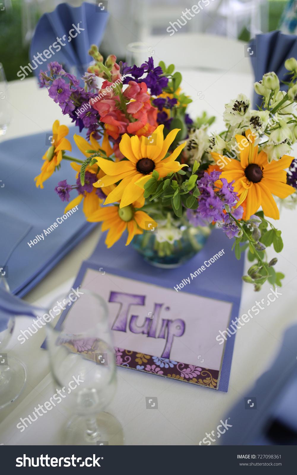 Wildflower Wedding Centerpieces Black Eyed Susans Stock Photo Edit