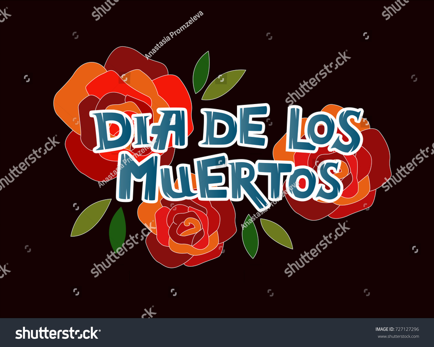 Vector Illustration Dia De Los Muertos Stock Vector - Day of the dead party invitation template