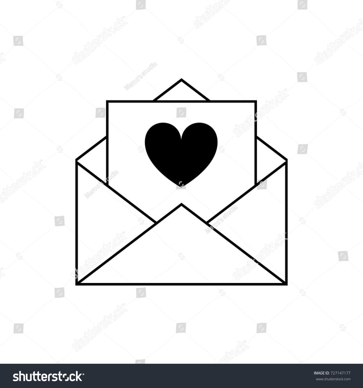 Love Letter Vector Icon Stock Vector (2018) 727147177 - Shutterstock