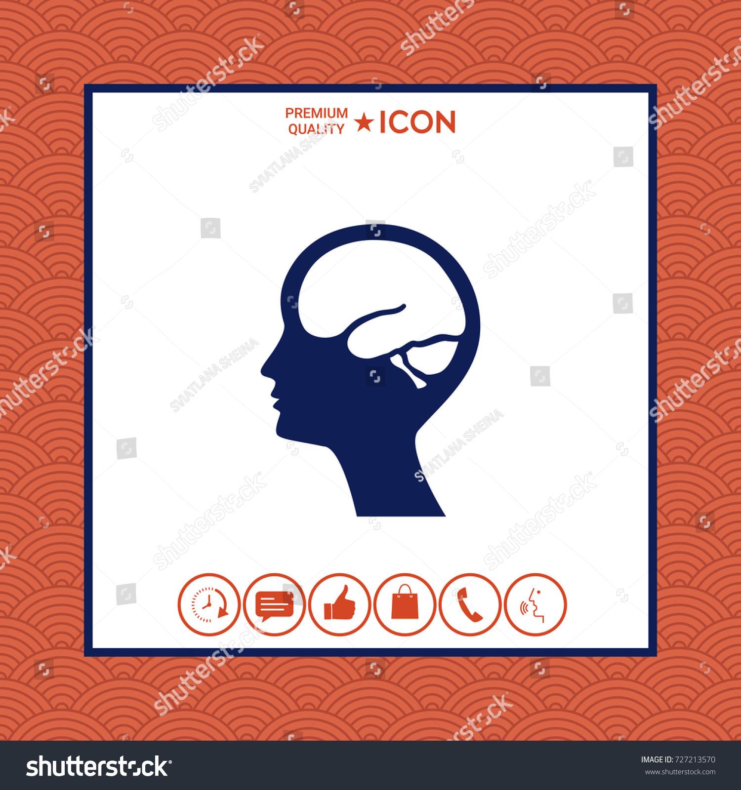 Head brain symbol icon stock vector 727213570 shutterstock head with brain symbol icon biocorpaavc Images