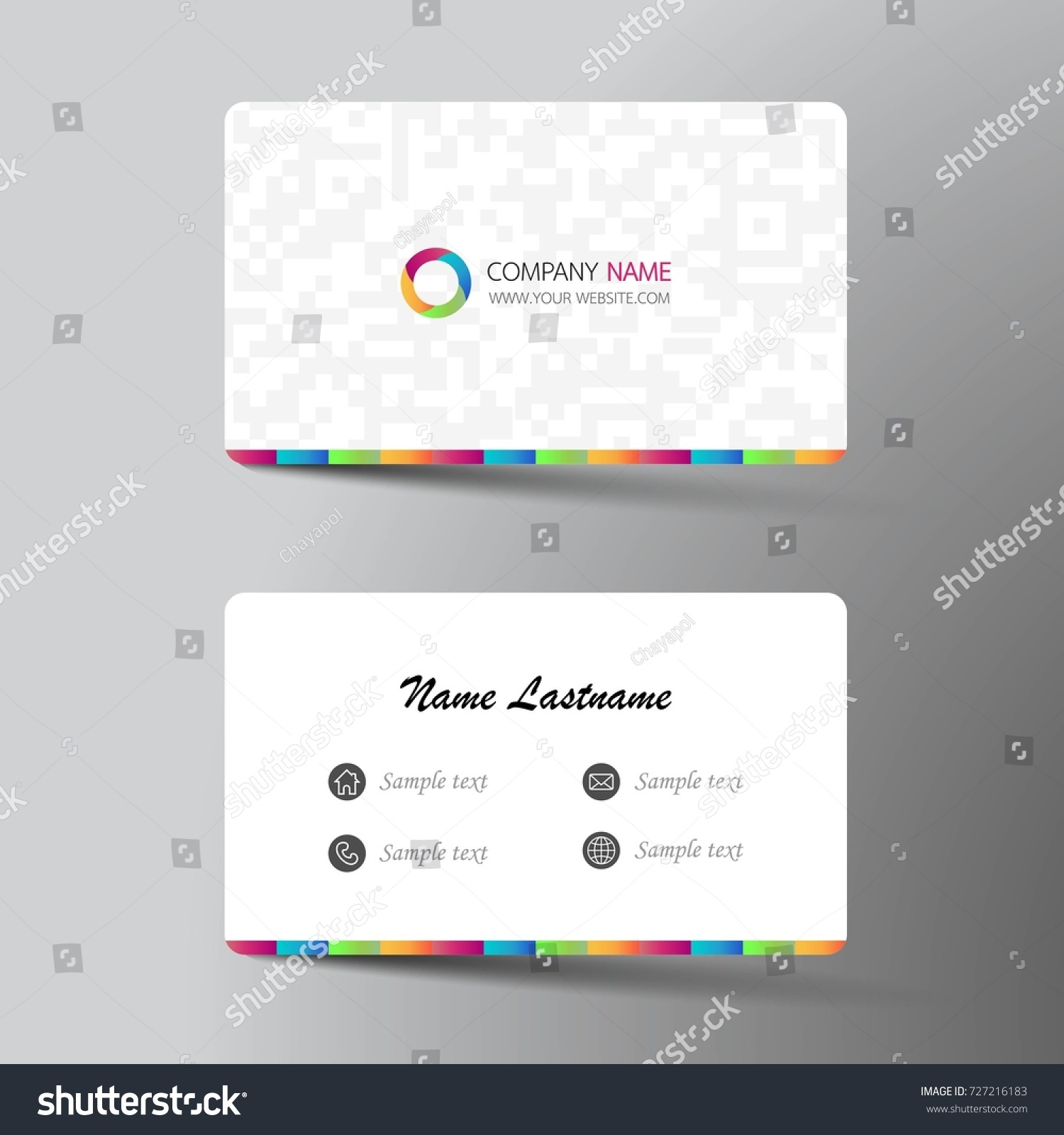 Sample of name card simple listing words sample name card web templates fax cover letter word template free stock vector modern business card template design with inspiration from the abstract magicingreecefo Gallery