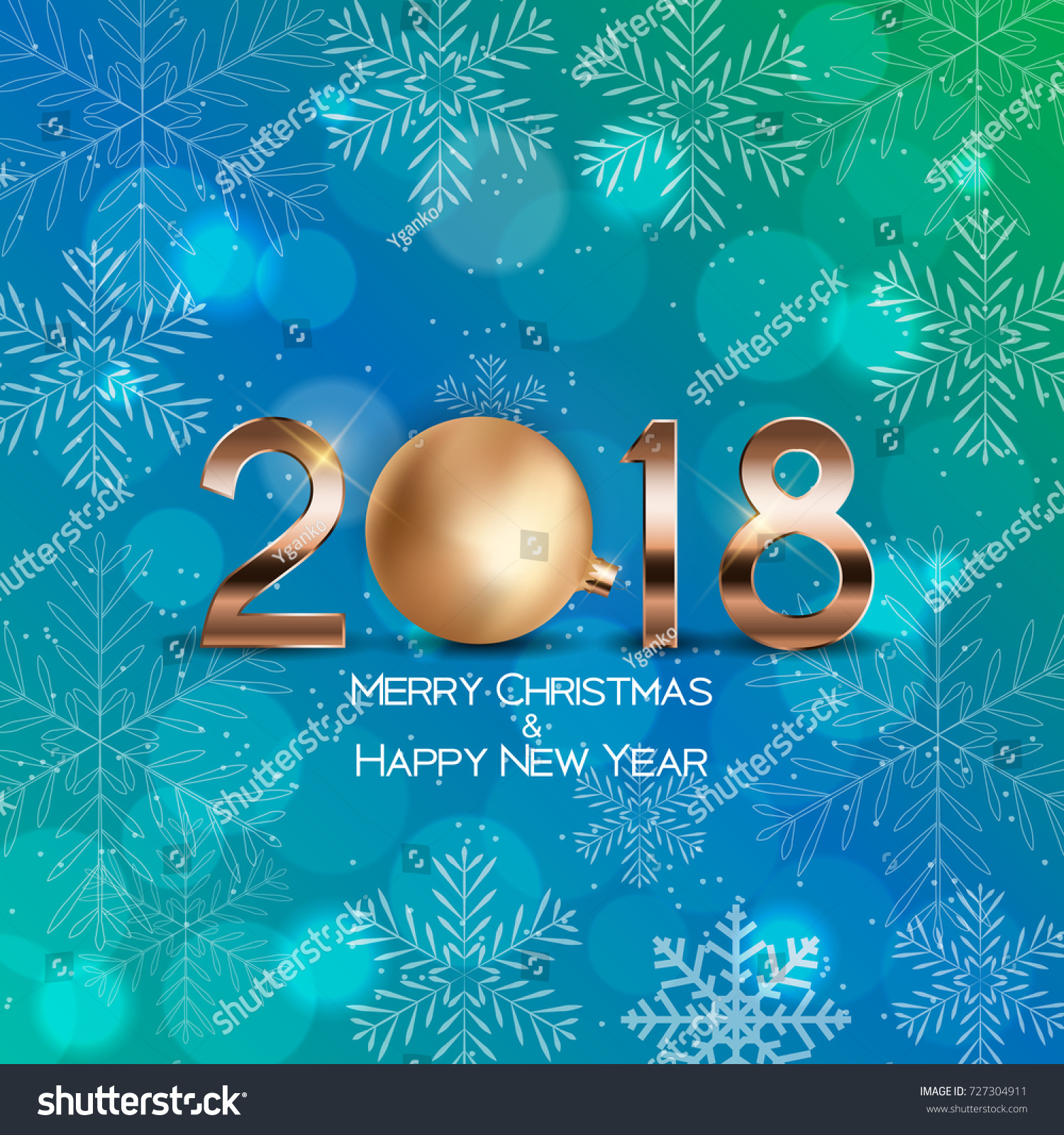 abstract beauty christmas and 2018 new year background vector illustration eps10