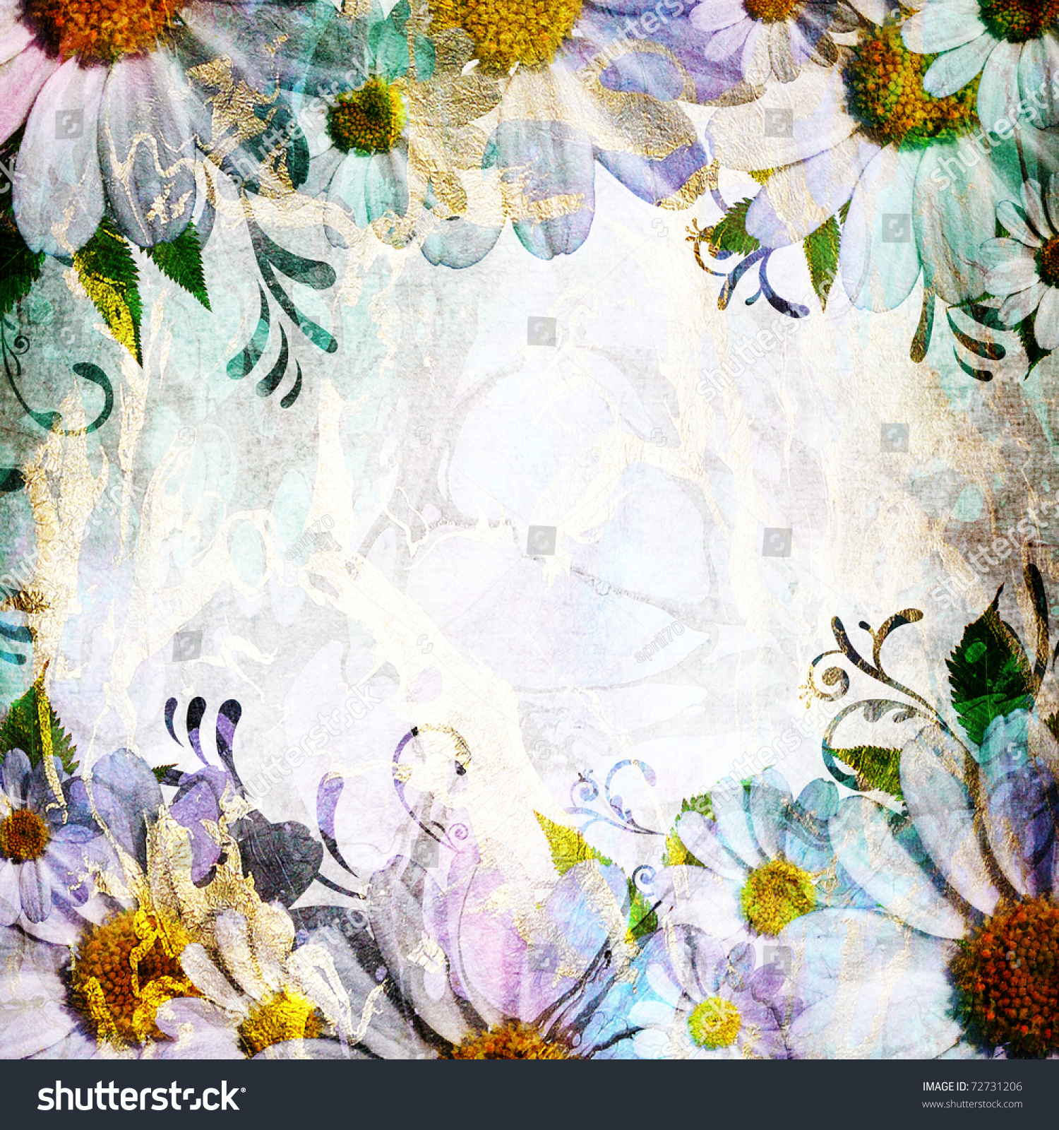 Daisy flowers border copy space stock illustration 72731206 daisy flowers border with copy space izmirmasajfo