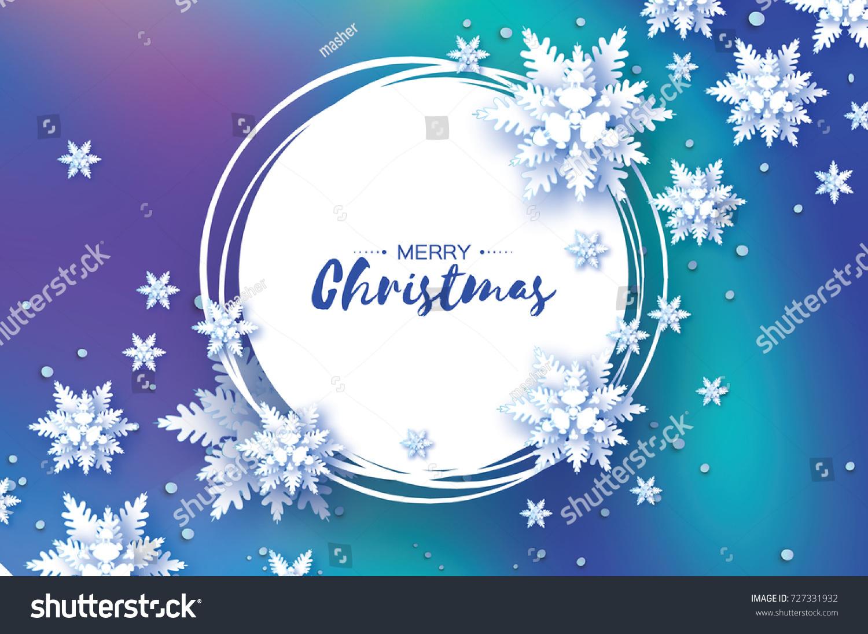 Origami Christmas Greetings Card Paper Cut Stock Vector Royalty