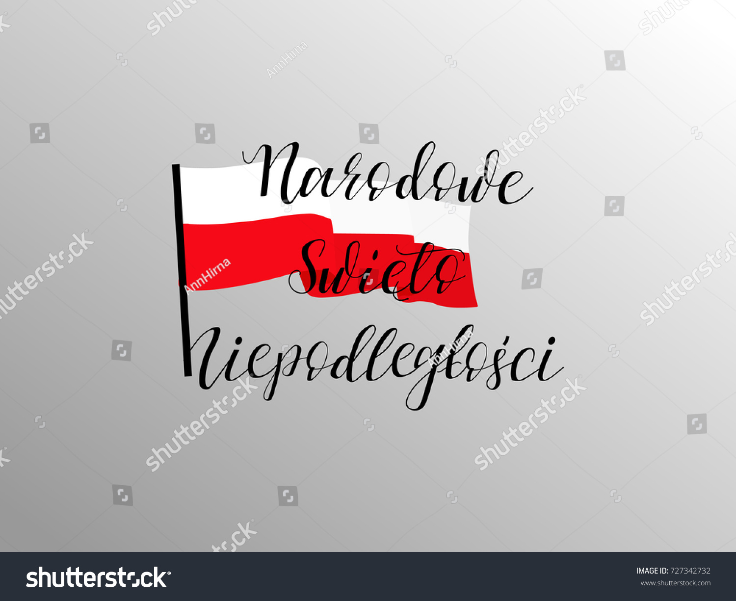 Poland Independence Day Greeting Card Celebration Stock Vector