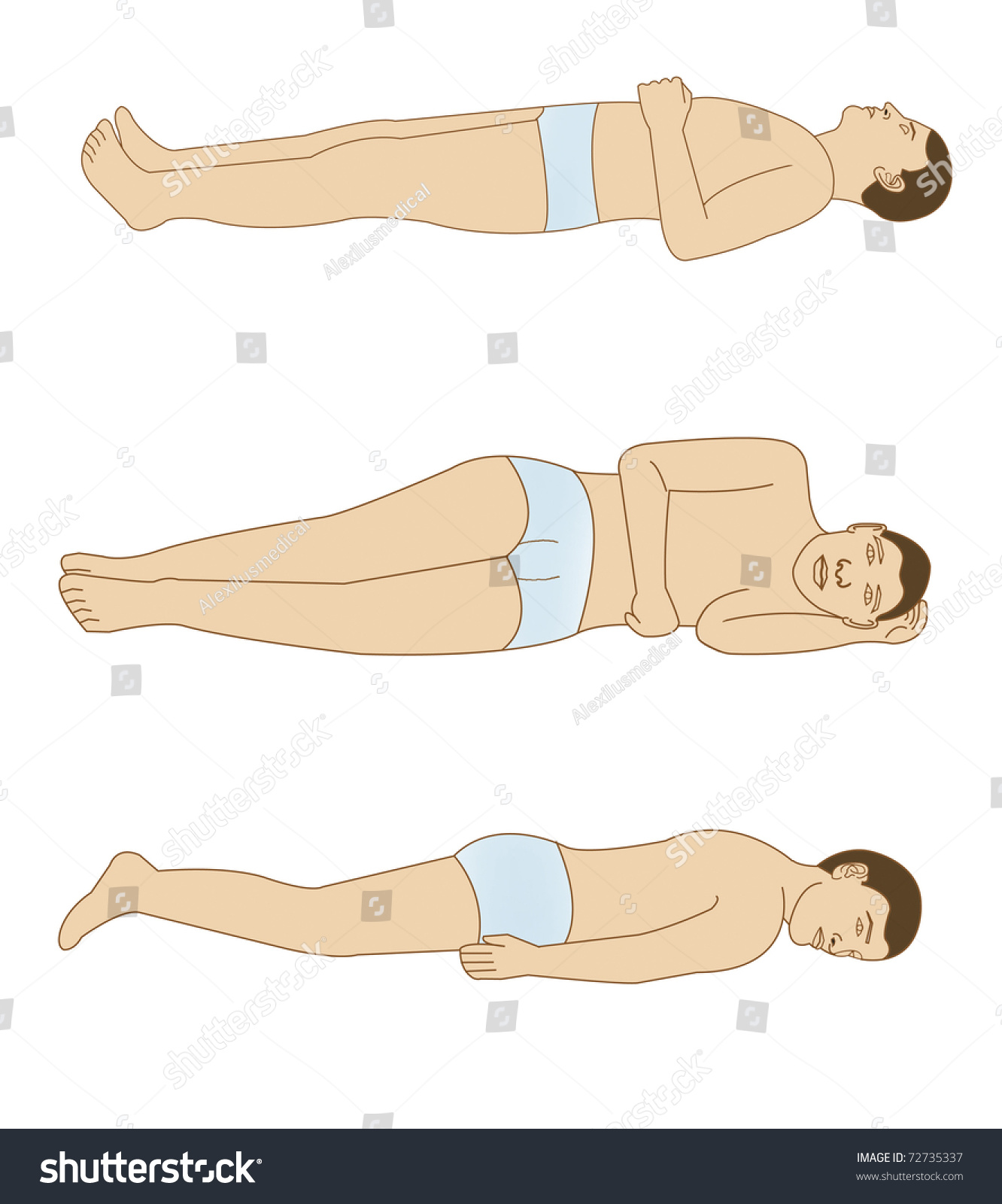 Schematic Drawing Positions Body Good Rest Stock Illustration Of The For A