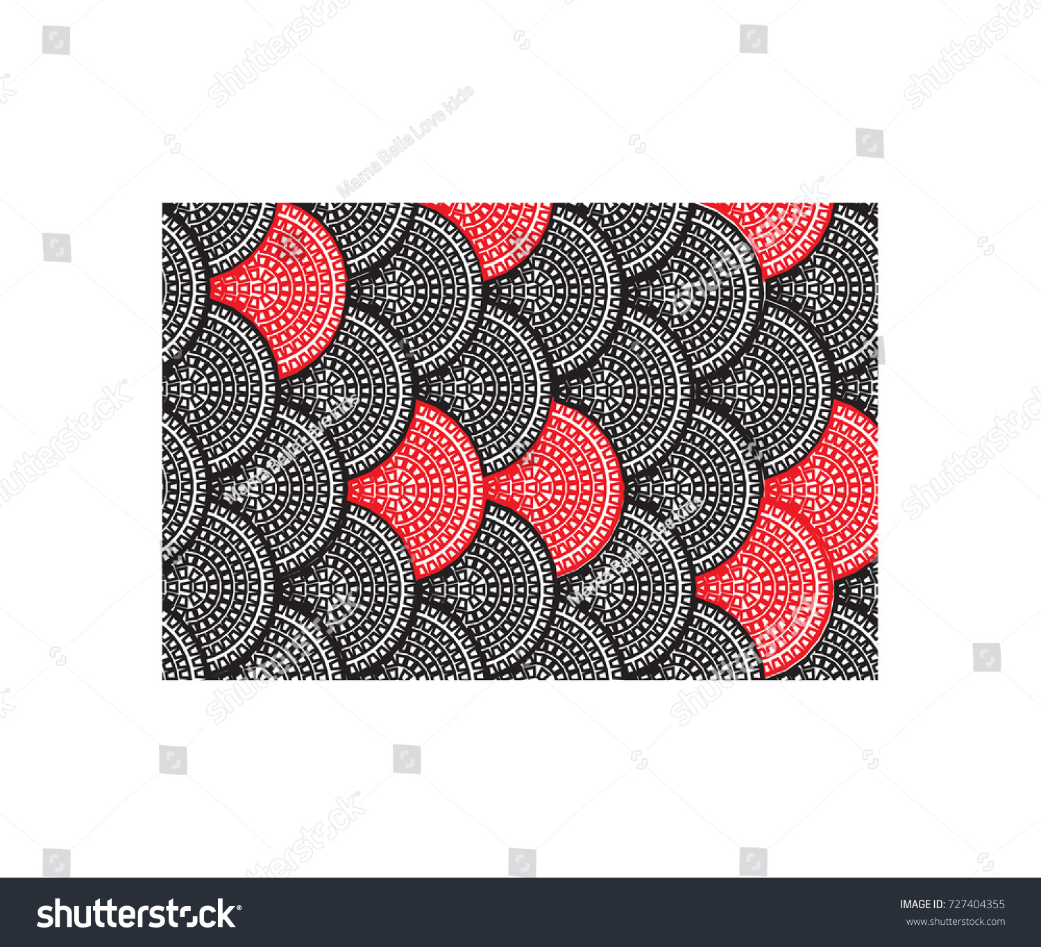 Doodles Image Fish Scale Black Red Stock Illustration 727404355 ...