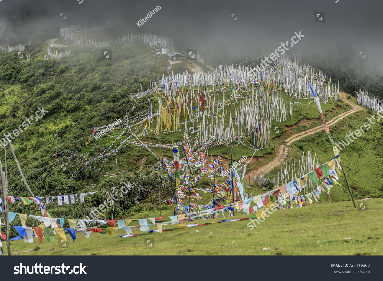Chele La Pass Bhutan Stands Over Stock Photo Shutterstock - Metres above sea level