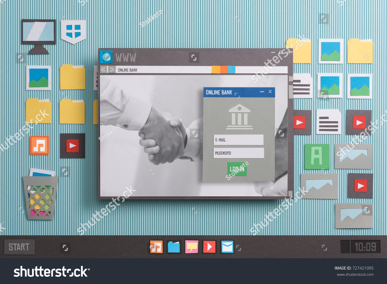 online banking user account login on stock photo royalty free
