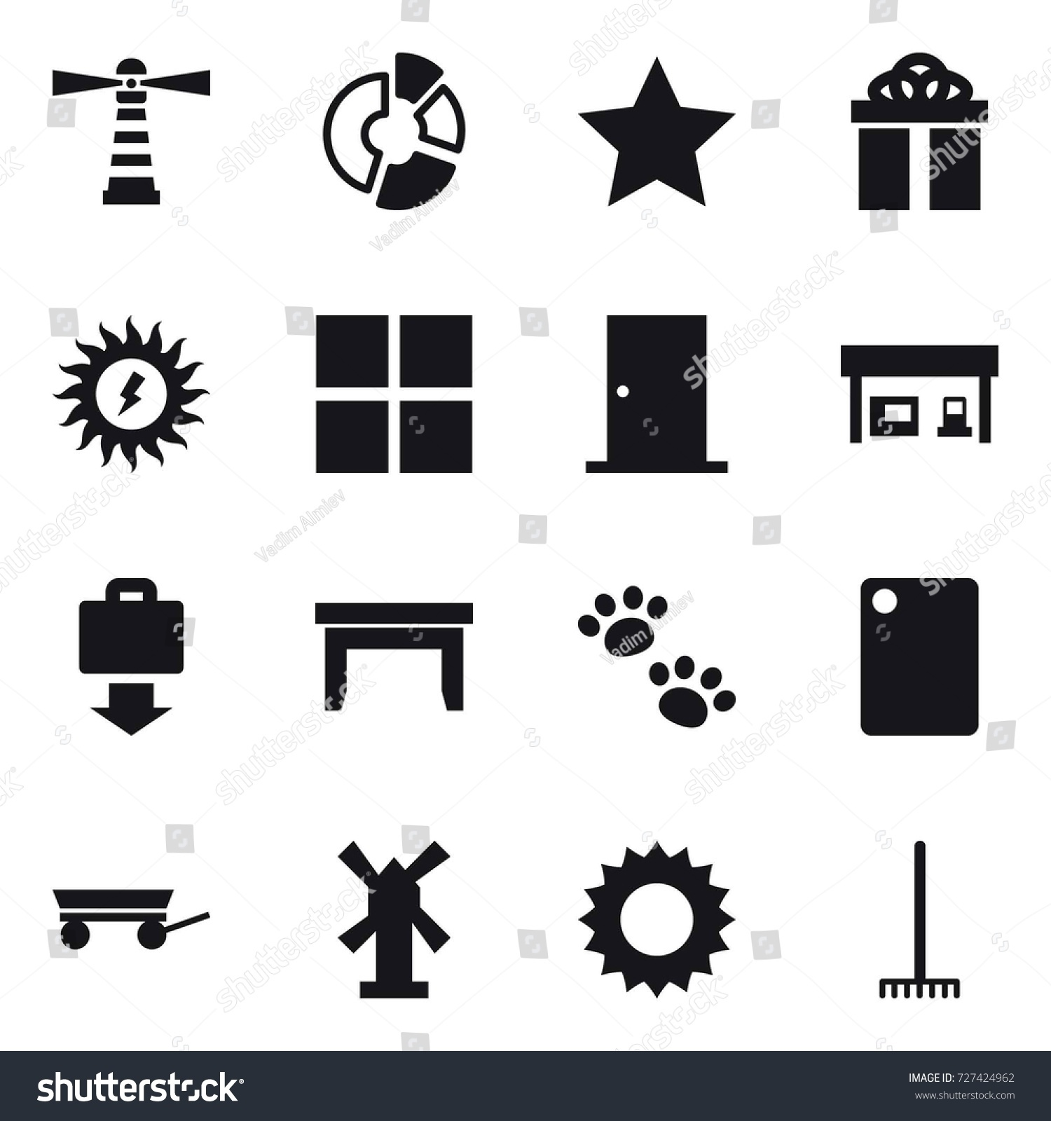 16 Vector Icon Set Lighthouse Circle Stock Photo (Photo, Vector ... for Power Window Symbol  104xkb