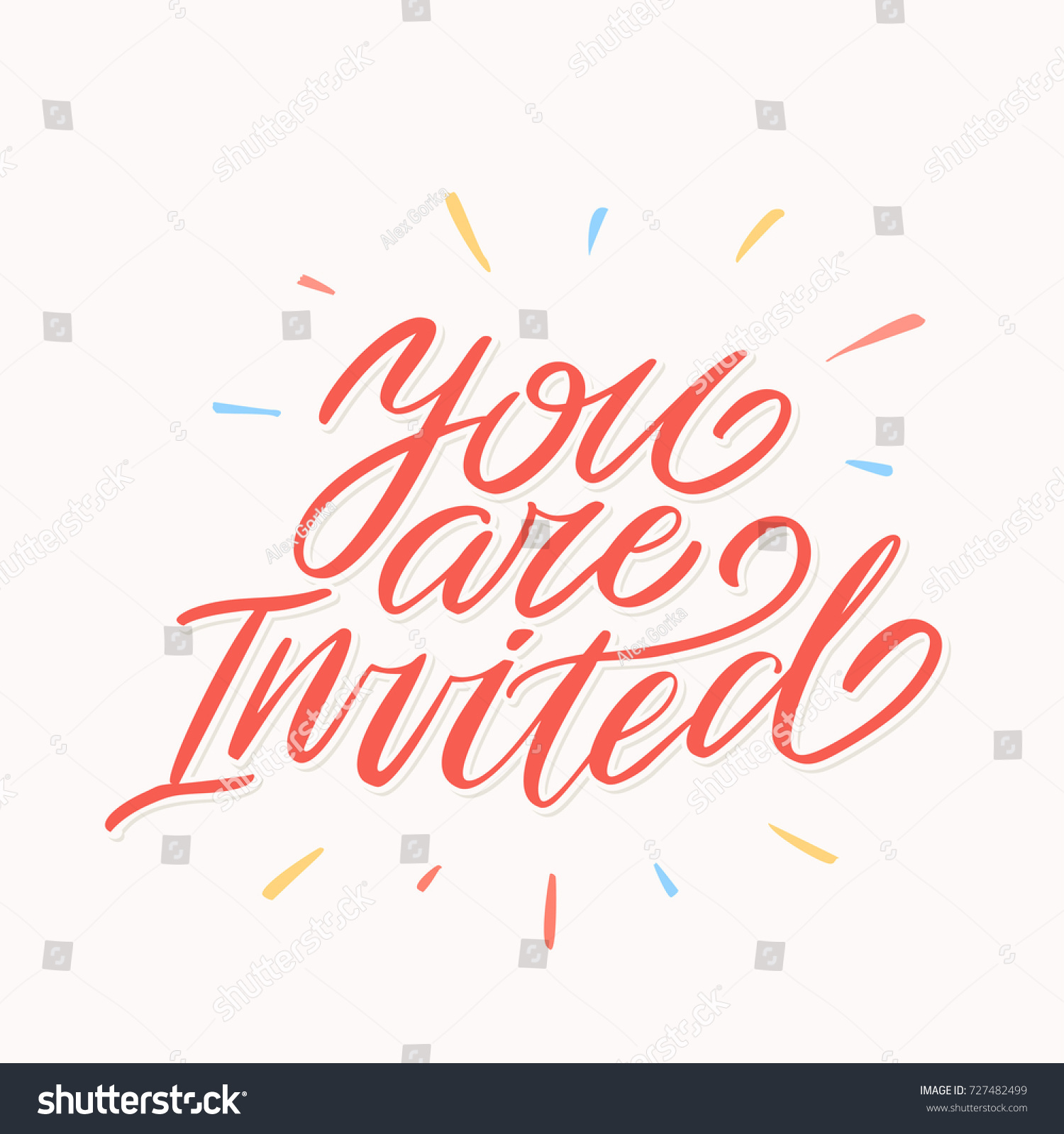 You invited invitation card stock vector 727482499 shutterstock you are invited invitation card stopboris Gallery