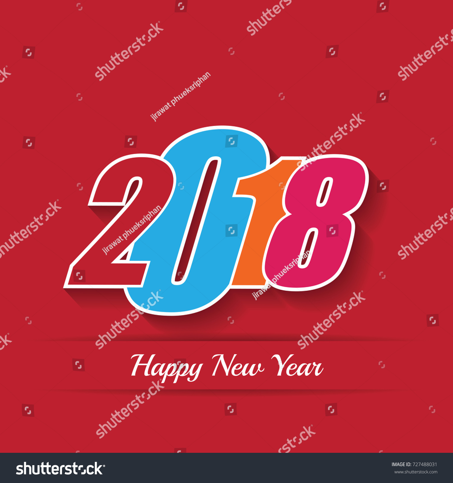 2018 Happy New Year Or Christmas Background Creative Greeting Card
