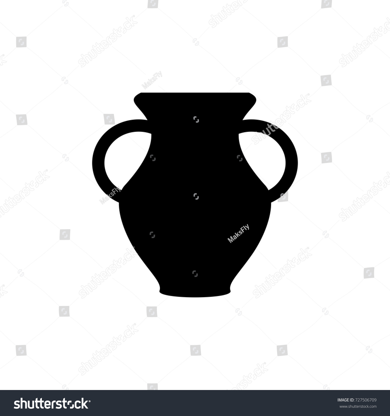 Vase two handles icon black sign stock vector 727506709 shutterstock vase with two handles icon black sign design reviewsmspy