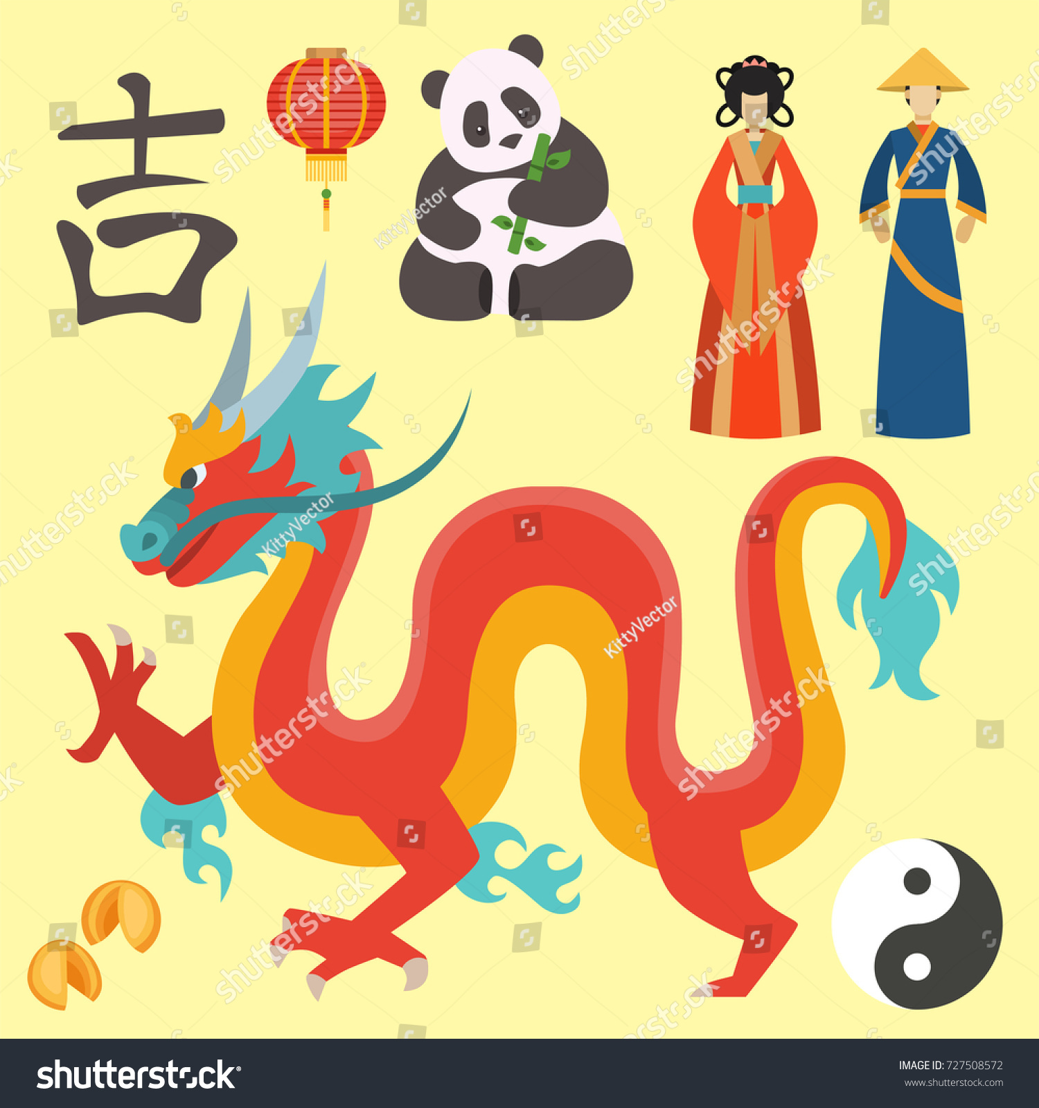 China icons peace text oriental culture stock vector 727508572 china icons peace text oriental culture chinese traditional symbols vector illustration biocorpaavc Images