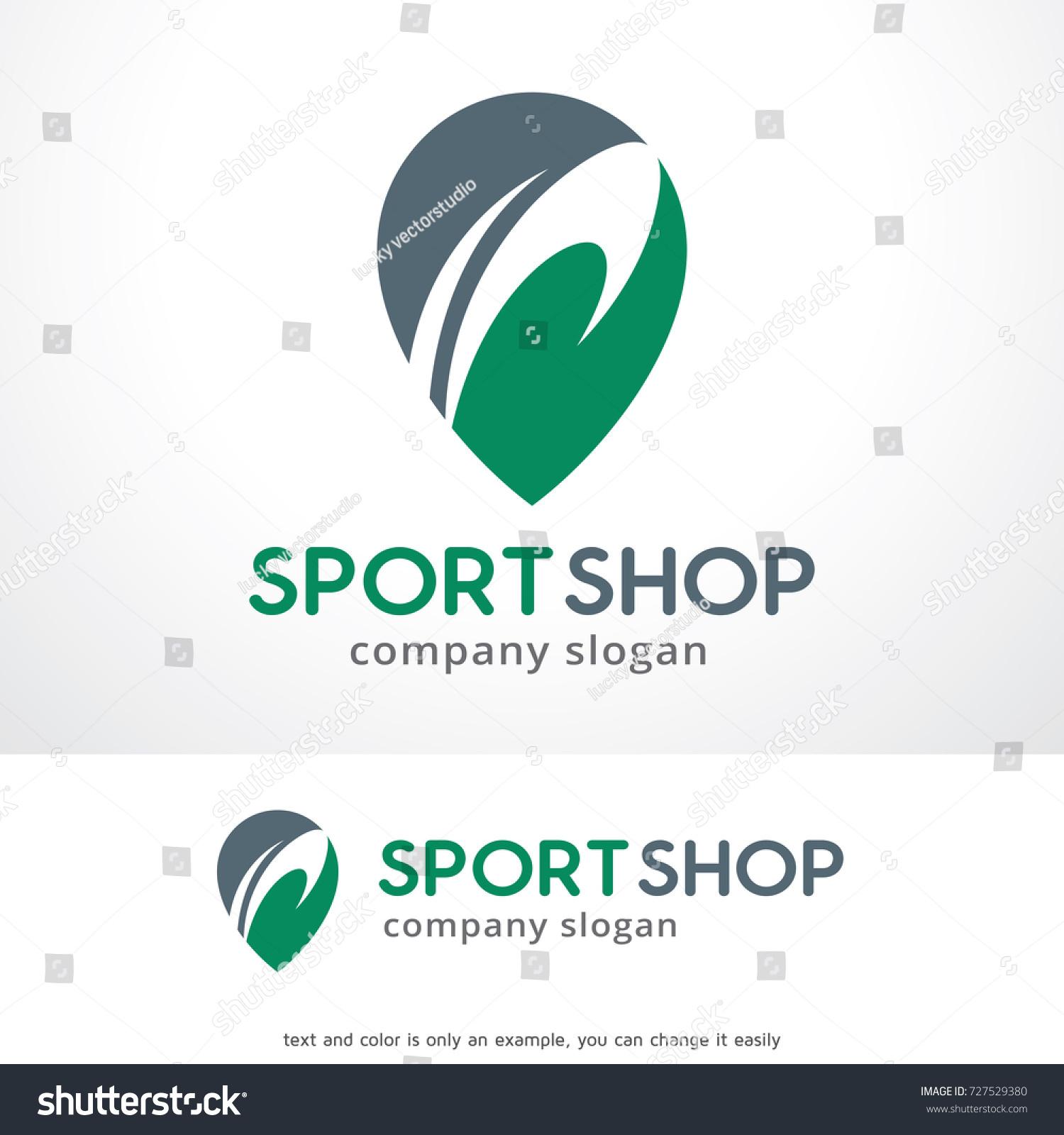 Sport Shop Logo Template Design Vector Vector de stock727529380 ...
