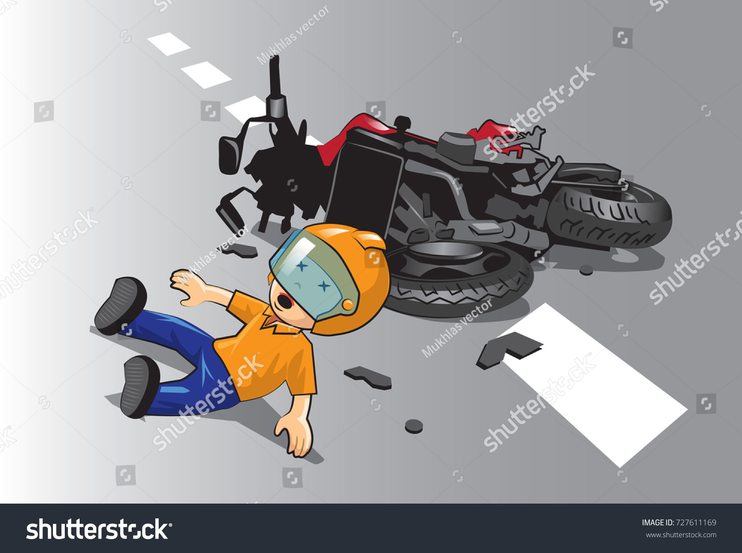 Young Riders Do Not Let Children Stock Vector (2018) 727611169 ...