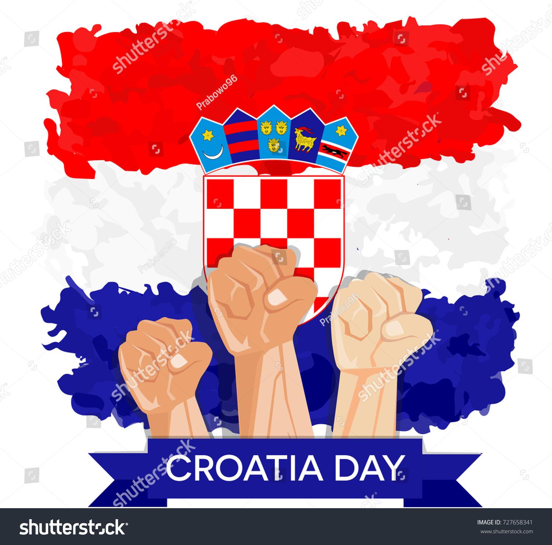 Hand Fist Arm Symbol Croatia National Stock Vector Royalty Free