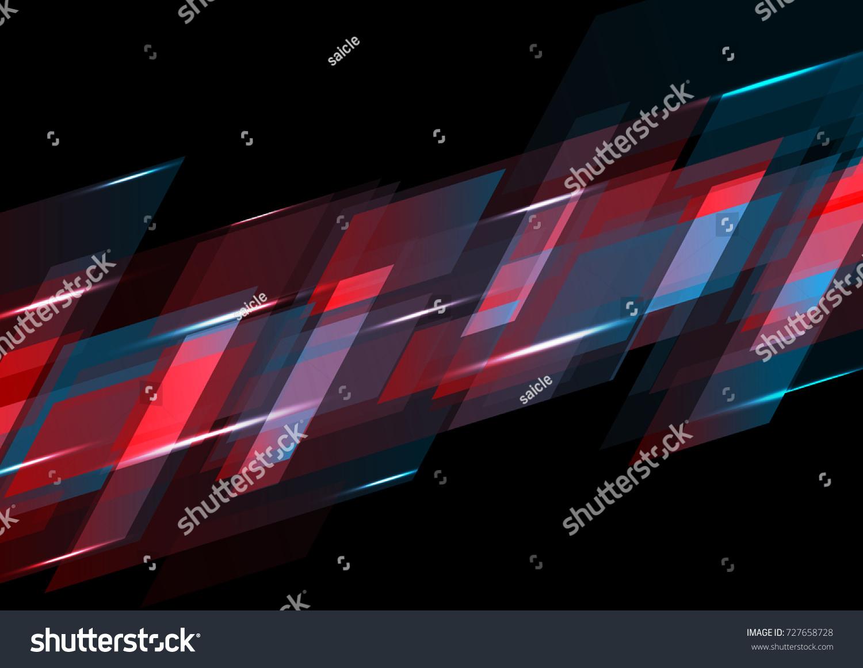 Dark Red Blue Abstract Tech Background Stock Vektorgrafik