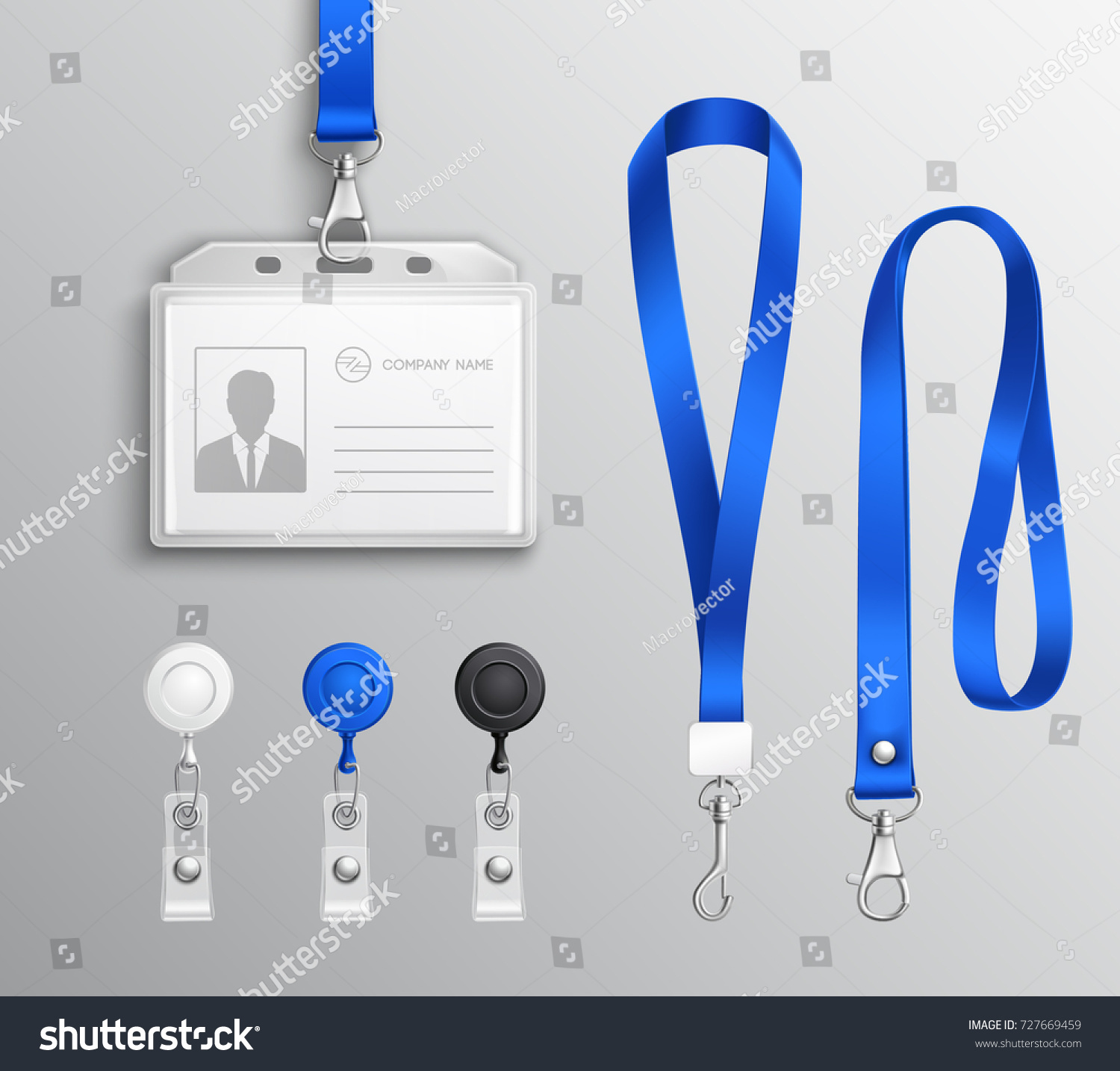 employees identification card id badges holders のベクター画像素材