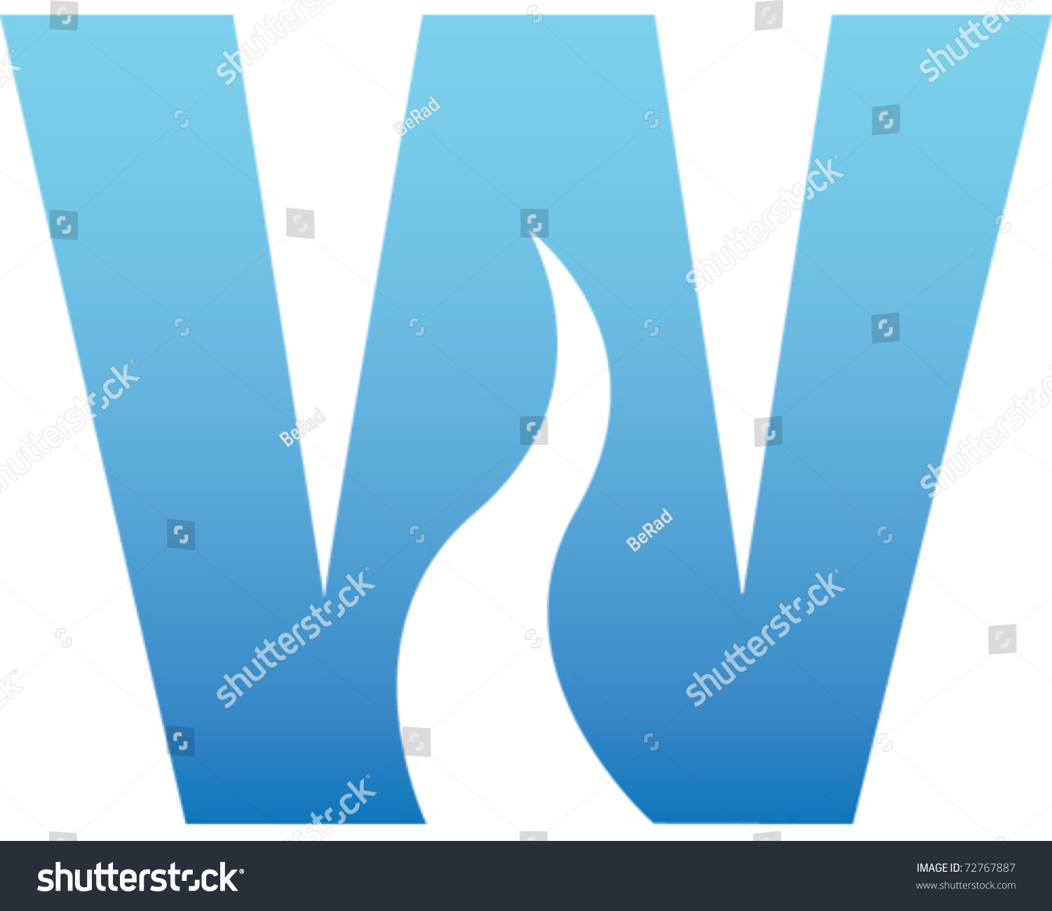 Water Letter Stock Vector Illustration 72767887 : Shutterstock