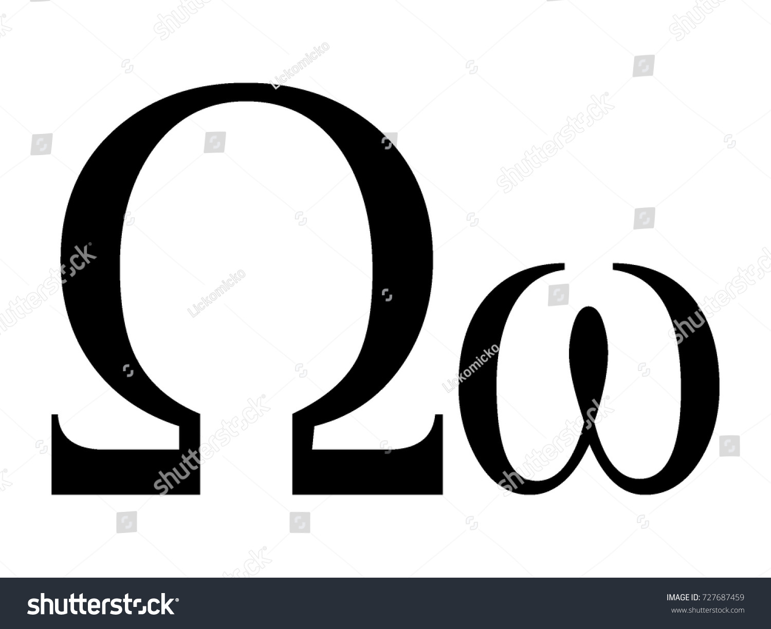 Vector Image Greek Letter Omega Stock Vector Royalty Free