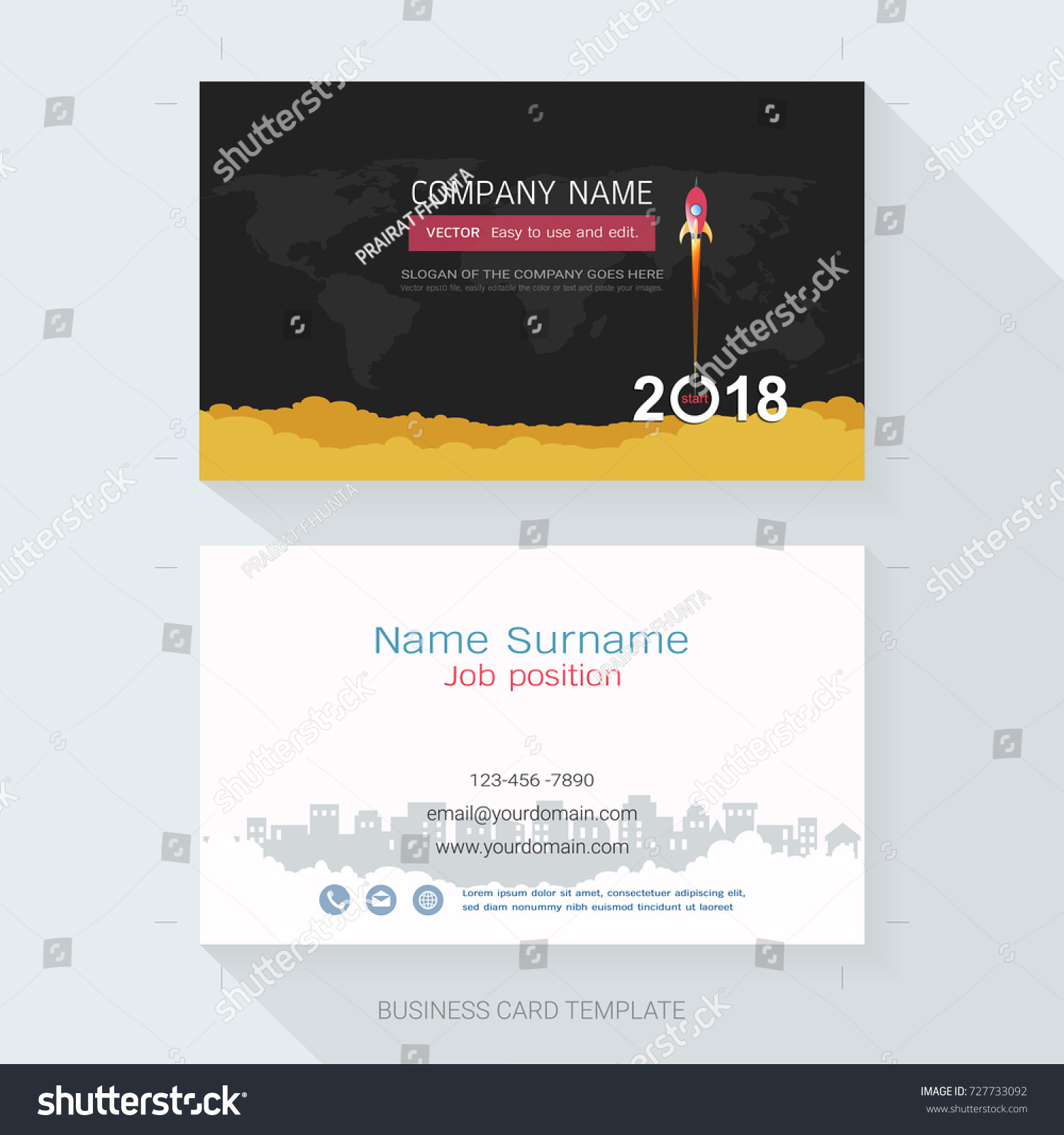 name card business card design templatethe stock vector