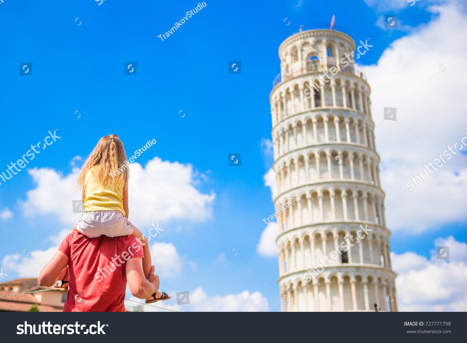 Pisa Travel Famous Places Europe Family Stock Photo Royalty Free