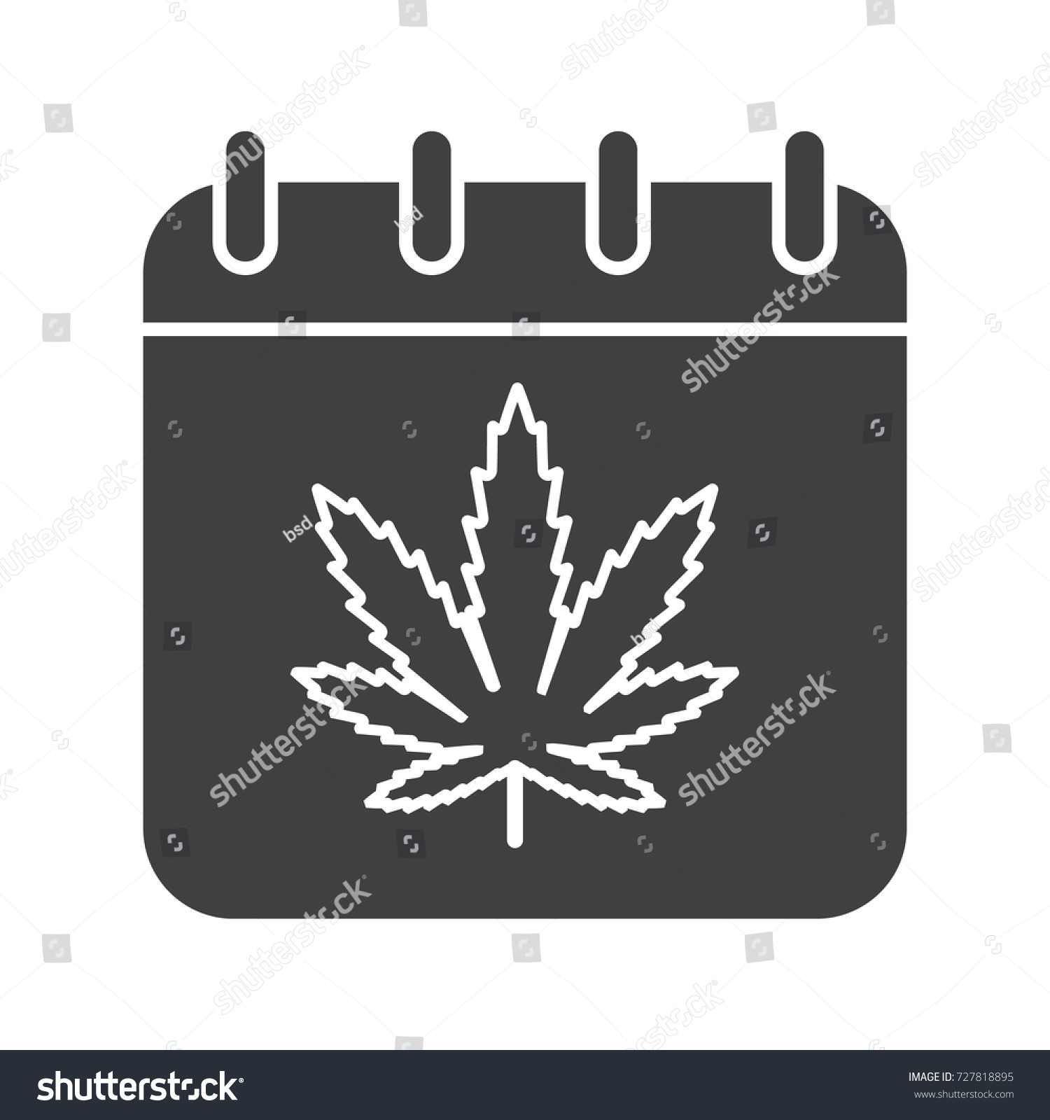National weed day glyph icon silhouette stock illustration 727818895 national weed day glyph icon silhouette symbol calendar page with marijuana leaf negative biocorpaavc Choice Image