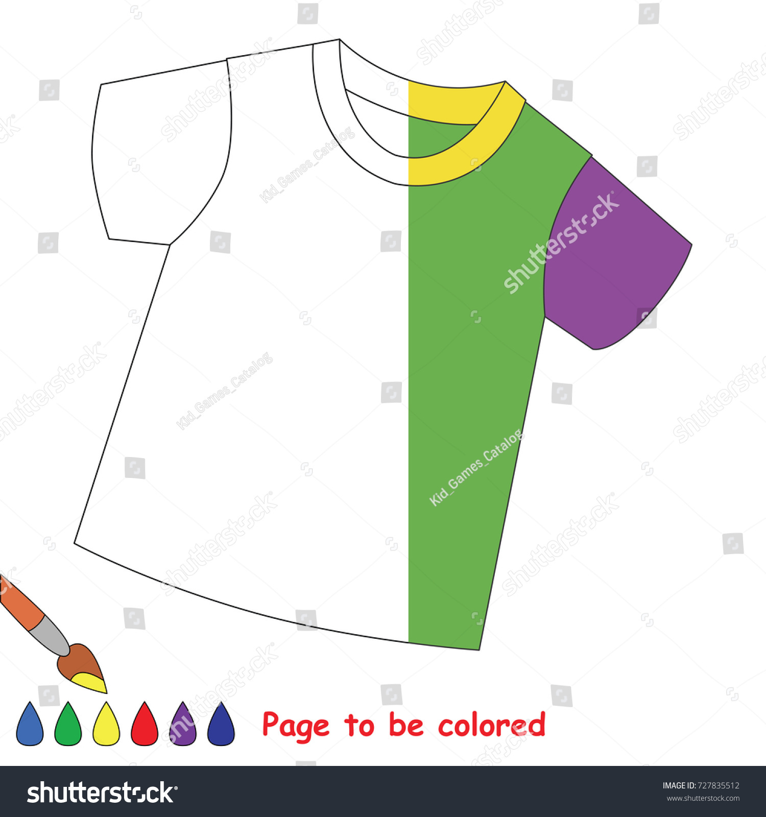 t shirt the coloring book to educate preschool kids with easy gaming level