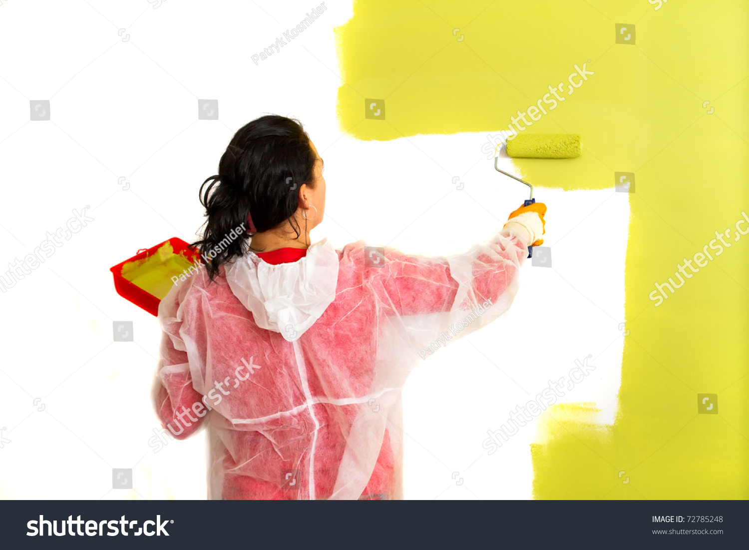 woman paints inside house with breast jpg 1080x810