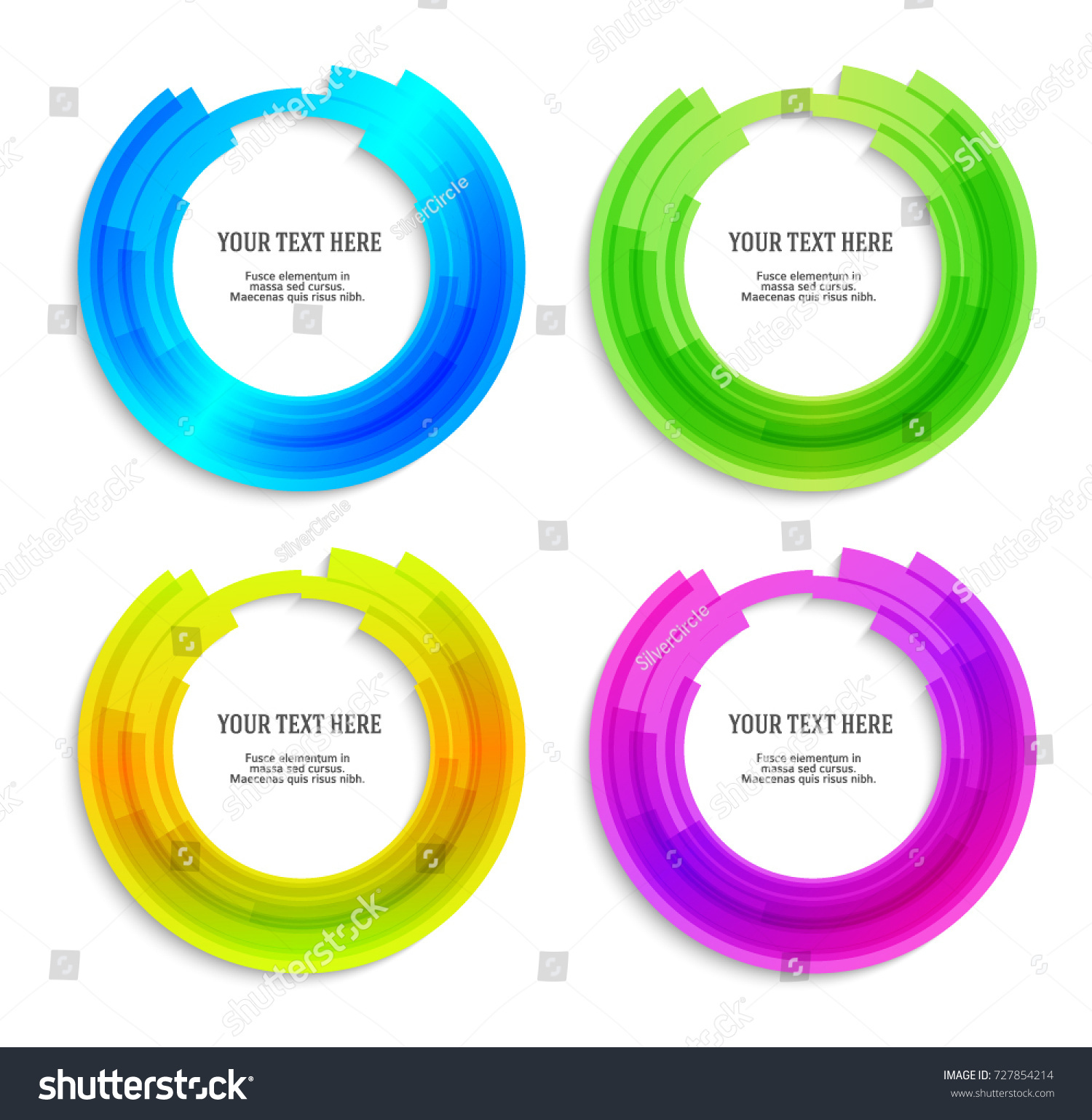 Set Label Blank Template White Background Stock Vector (Royalty Free ...