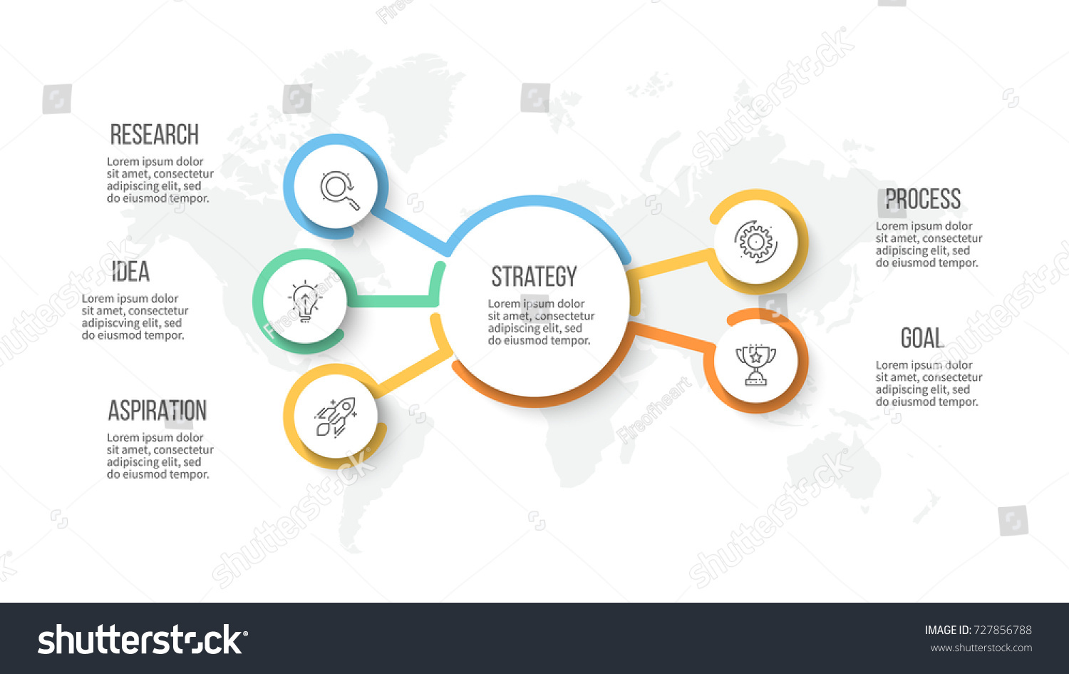 Business hierarchy infographic organization chart 5 stock vector business hierarchy infographic organization chart with 5 options vector template wajeb Choice Image
