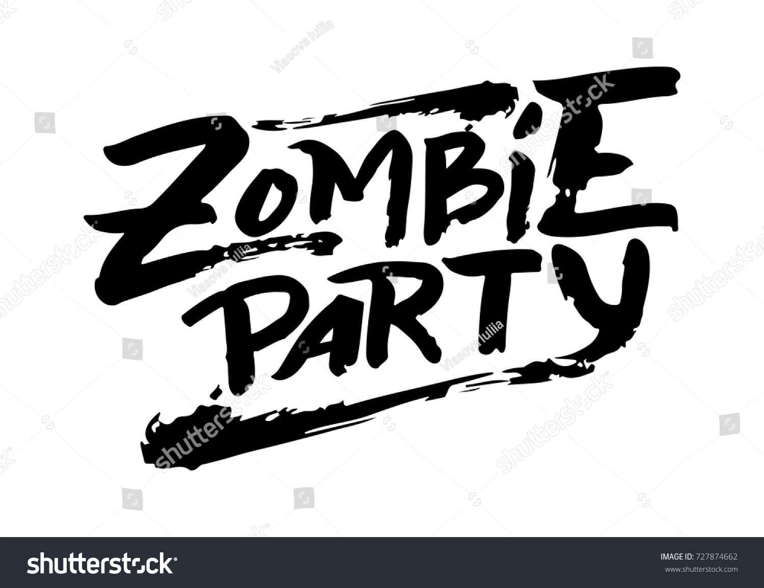 Vector illustration zombie party text party stock vector hd royalty vector illustration of zombie party text for party invitation greeting card banner handwritten stopboris Choice Image