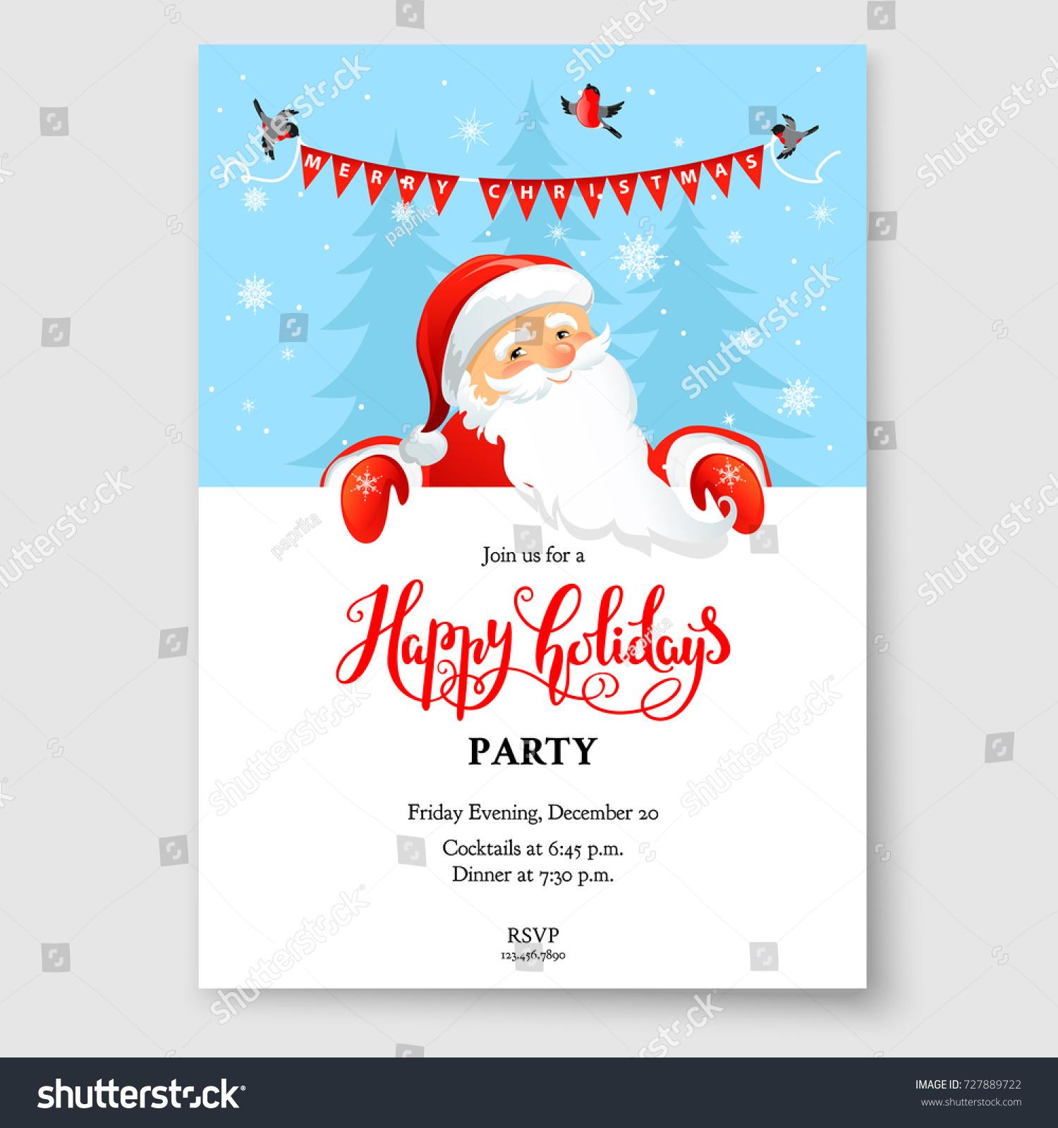 cartoon character santa claus on winter stock vector royalty free
