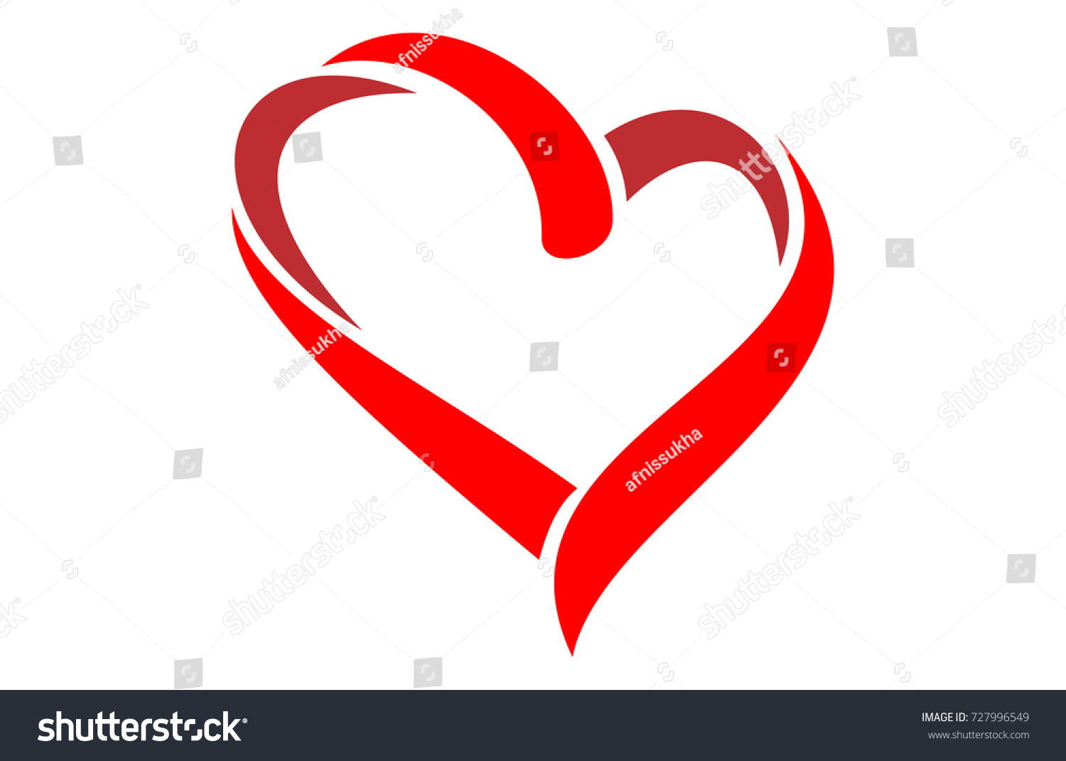 Love Heart Logo Stock Vector 727996549 - Shutterstock