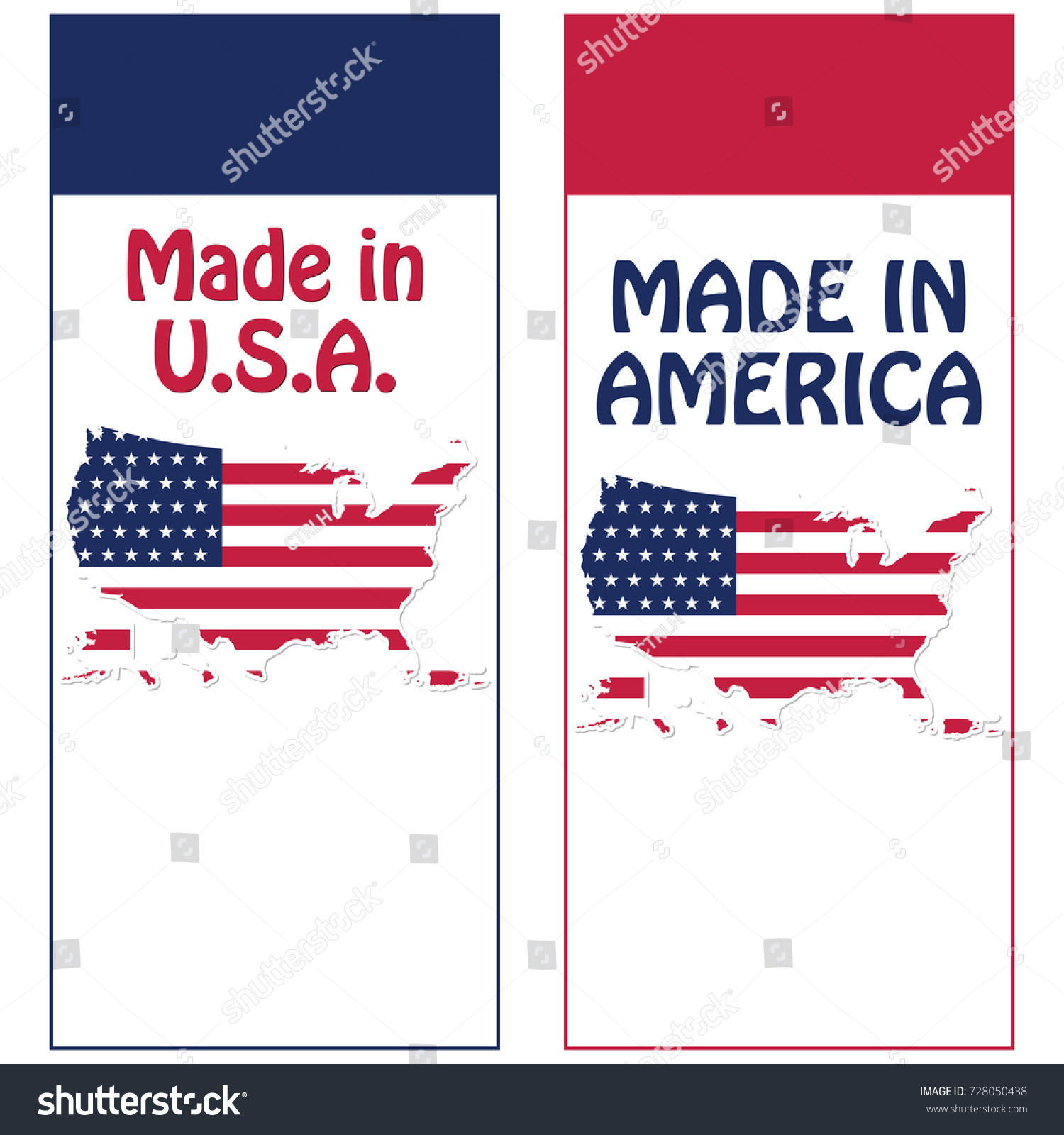 made in usa printable stickers set contains the american flag and map