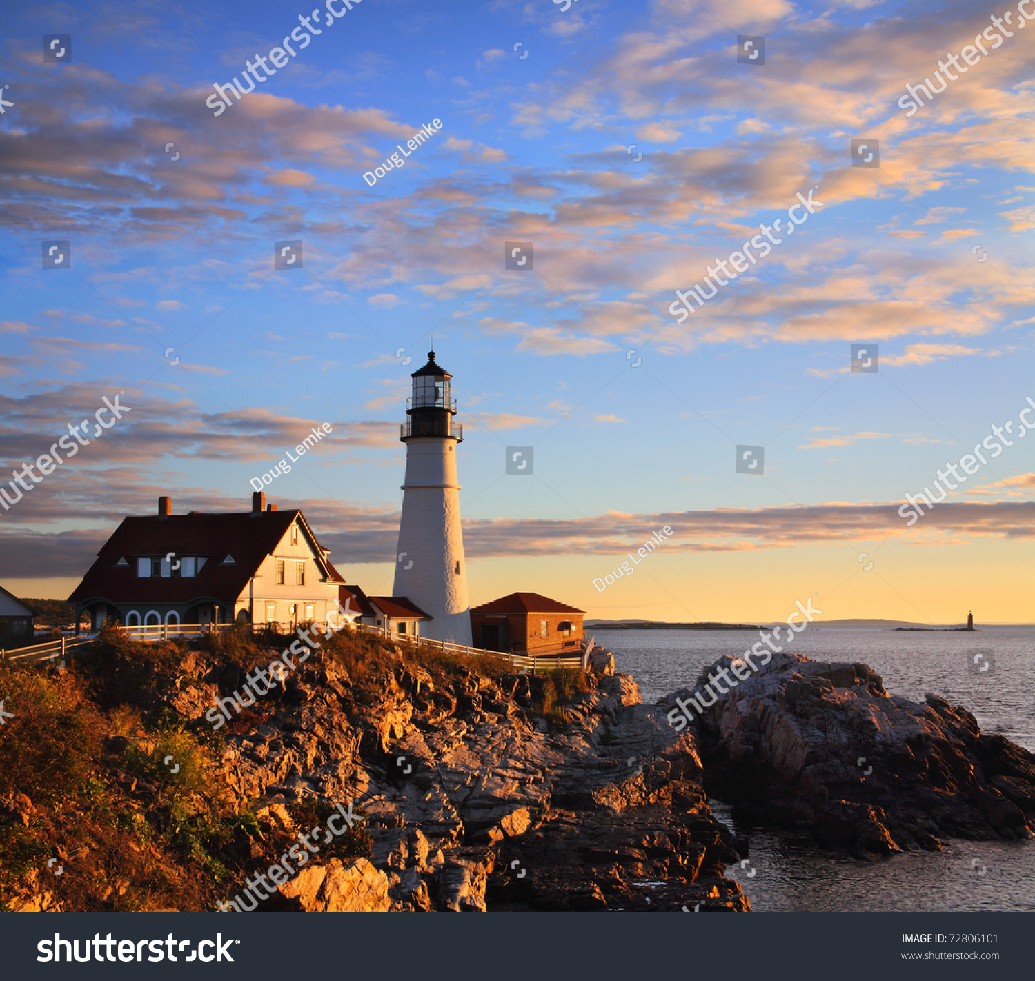 One Most Iconic Beautiful Lighthouses Portland Stock Photo