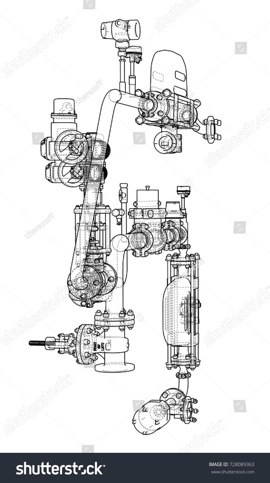 Sketch Industrial Equipment EPS 10 Vector Stock Vector (2018 ...