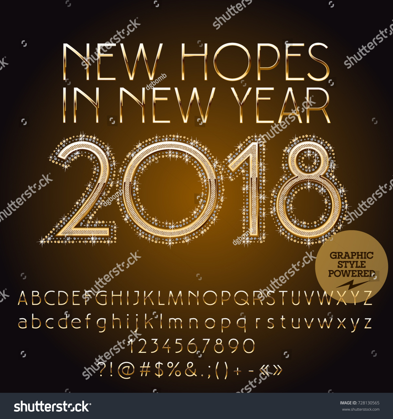 Vector Greeting Card Happy New Year Stock Vector 728130565