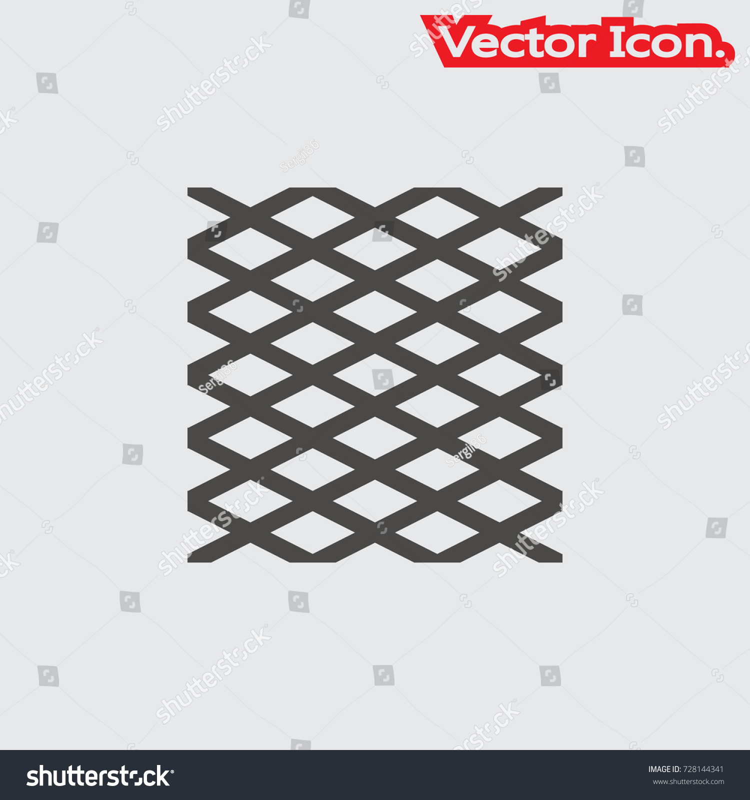 Wire Mesh Icon Isolated Sign Symbol Stock Vector 728144341 ...