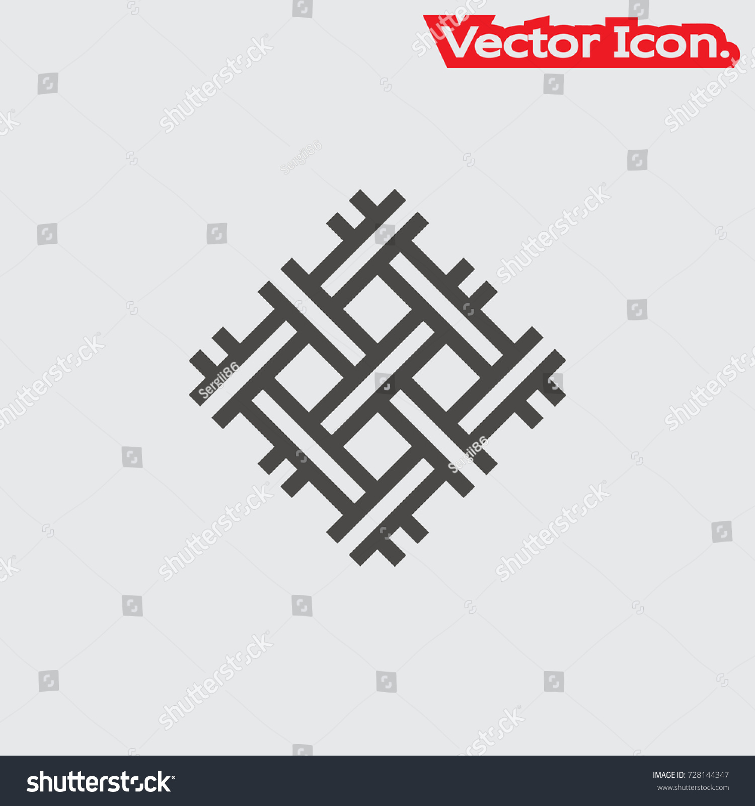Wire Mesh Icon Isolated Sign Symbol Stock Vector 728144347 ...