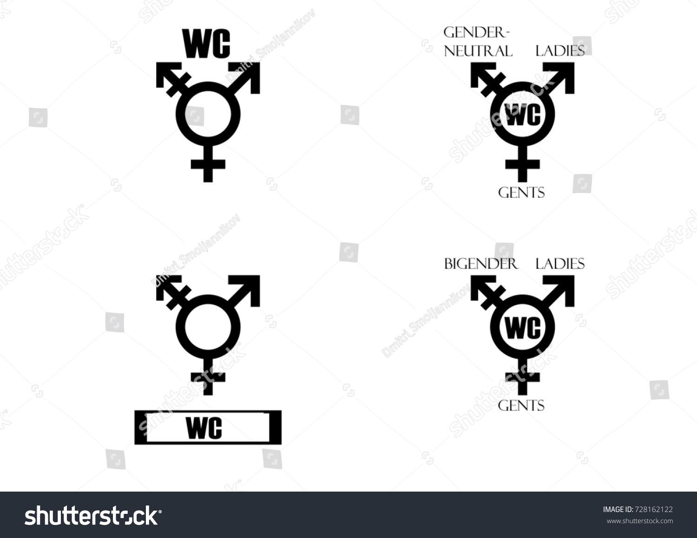 Transgender male set symbols isolated on stock illustration set of symbols isolated on white background unisex stylized set buycottarizona