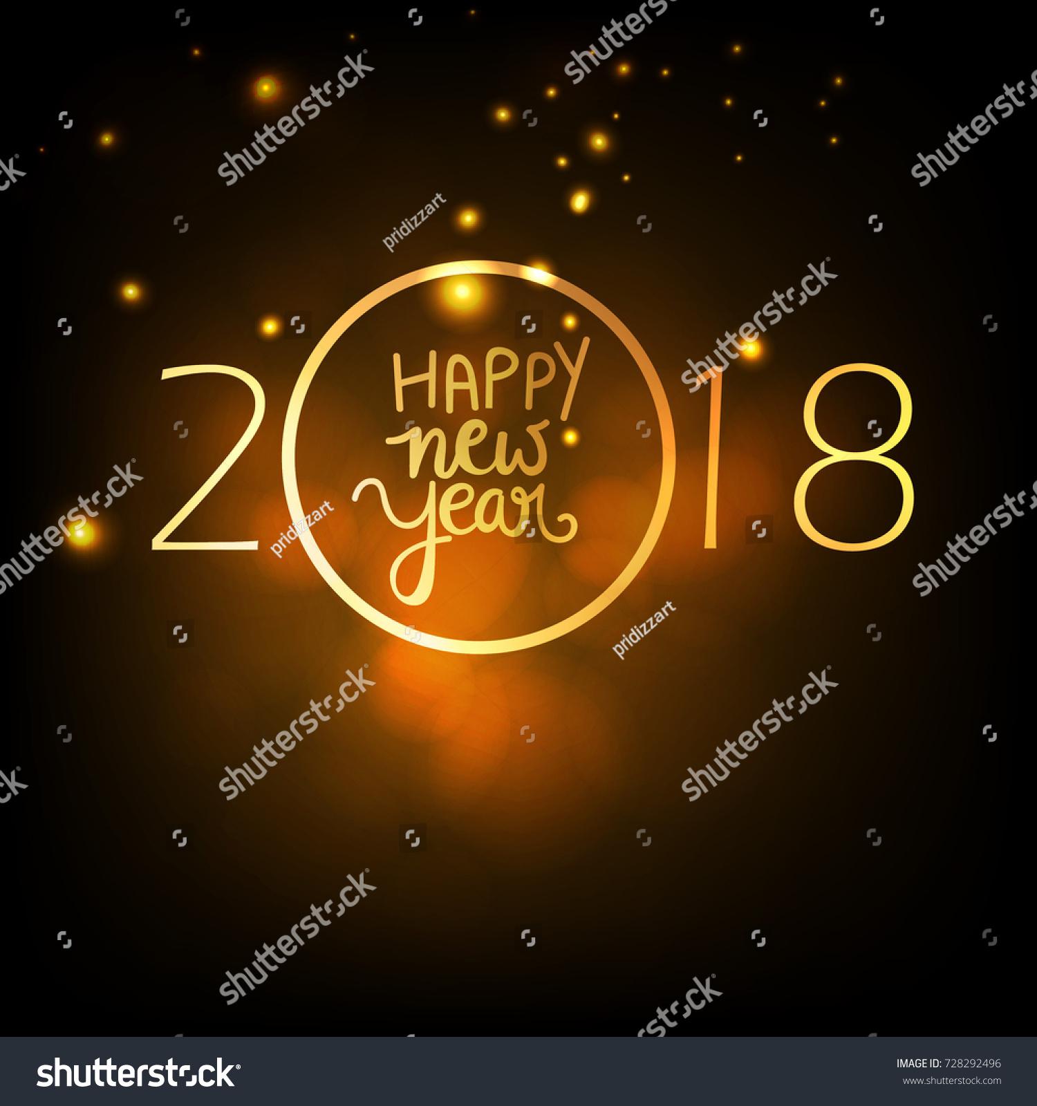 Happy New Year Wallpaper Design Image Vectorielle De Stock Libre De