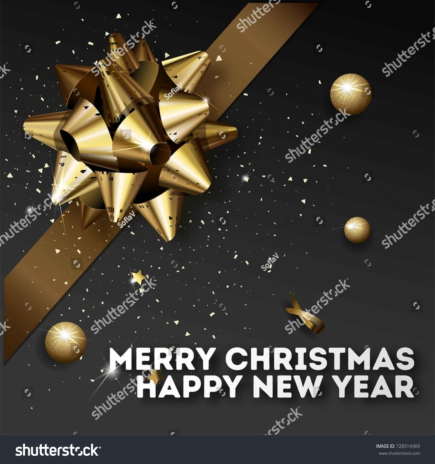 happy new year 2018 greeting card or poster template flyer or invitation design