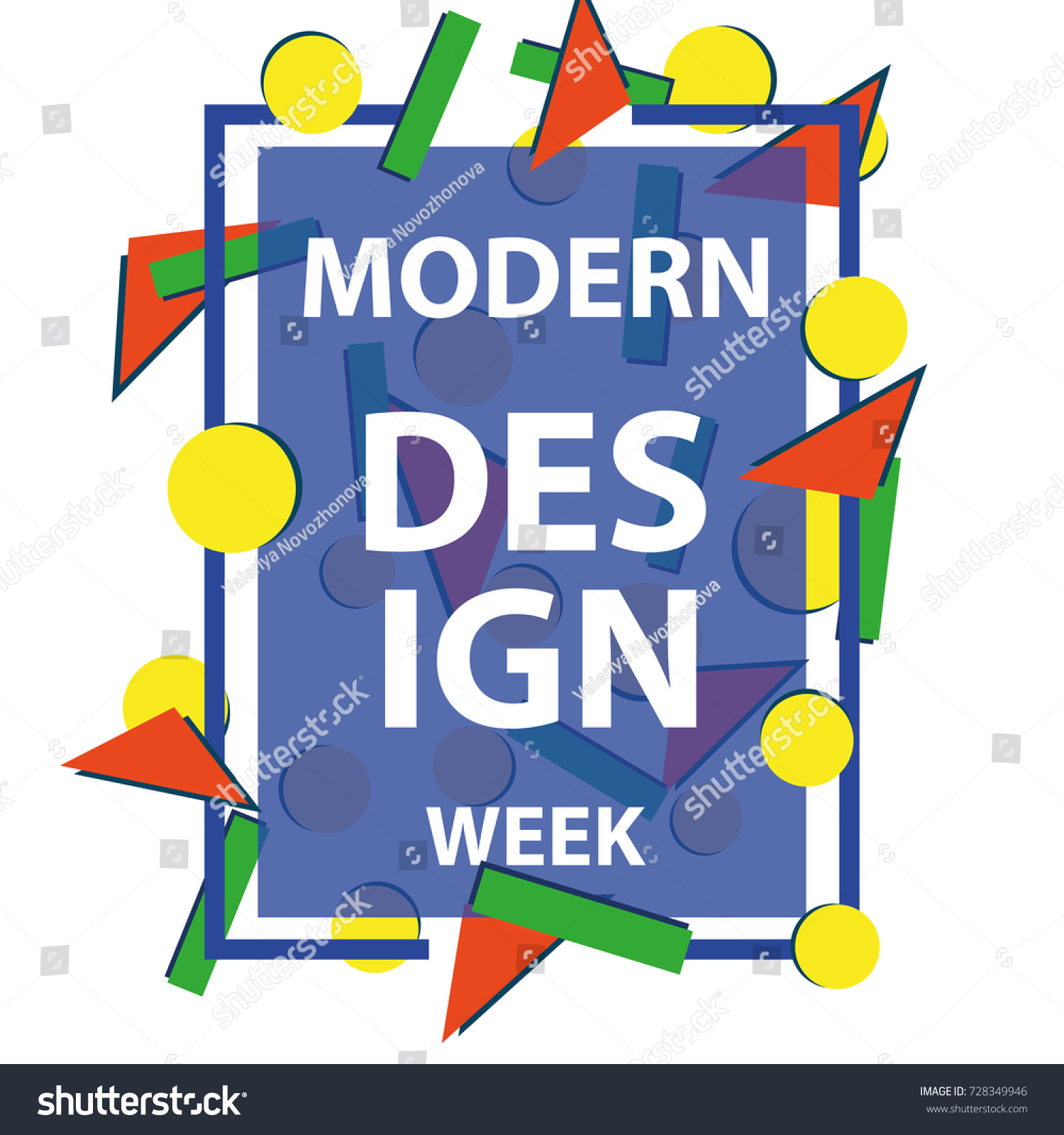 modern vector dynamic frame with geometrical elements modern design concept stylish geometric frames - Dynamic Frames