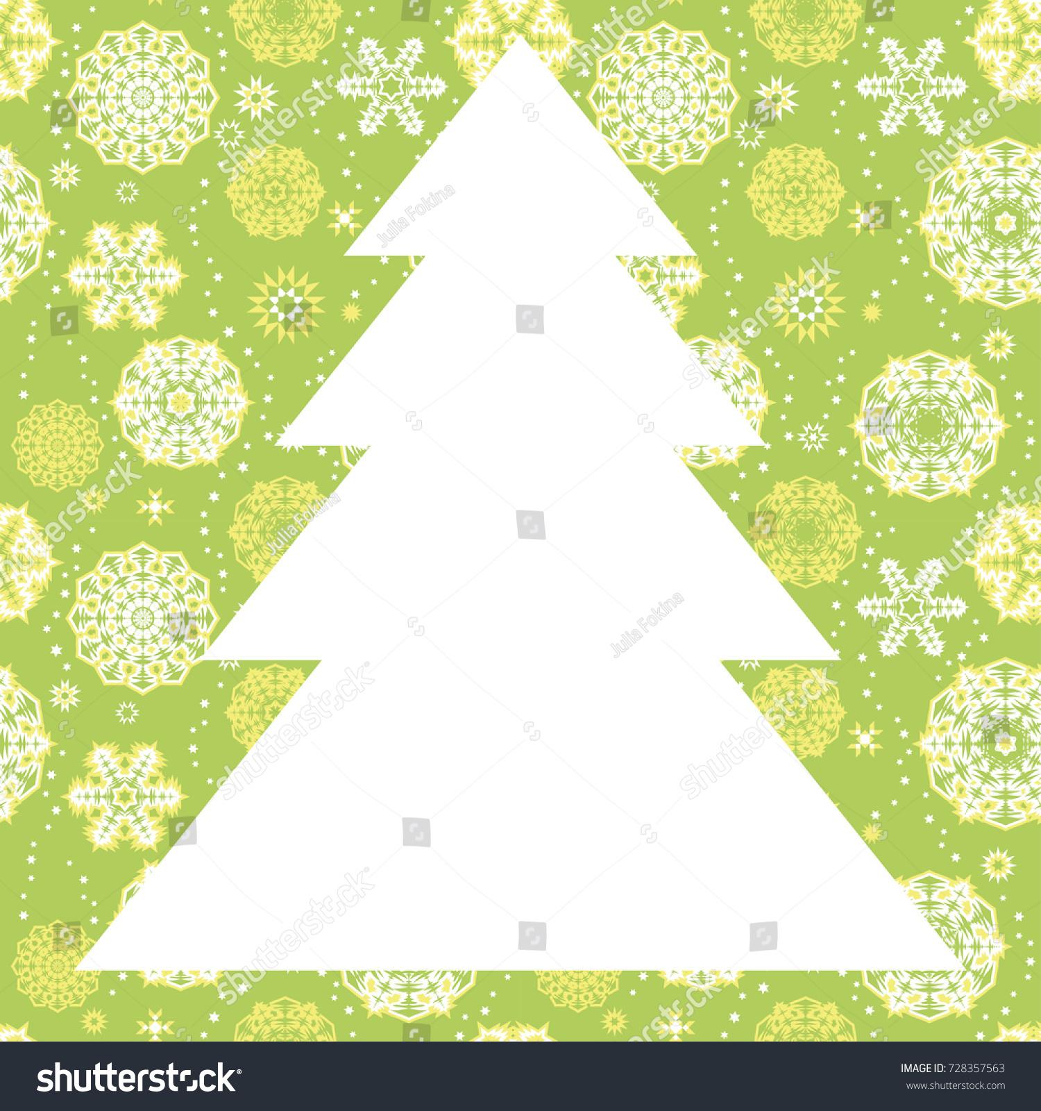 Christmas Tree Frame Border White Random Stock Vector (Royalty Free ...