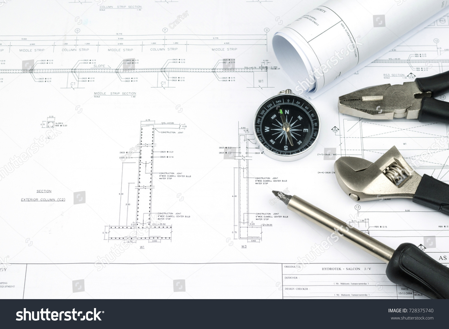 Engineer construction business work concept engineering stock photo engineer construction business work concept engineering blueprint diagrams paper drafting and industrial equipment technical tools malvernweather Choice Image