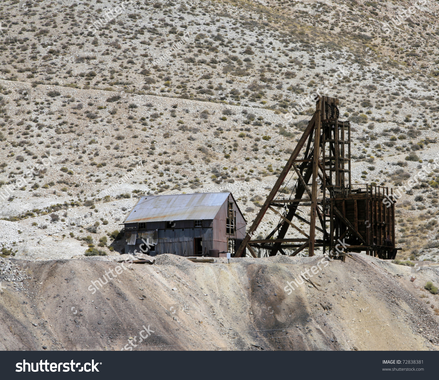 Abandoned Silver Mine In Nevada Near The Town Of Tonopah