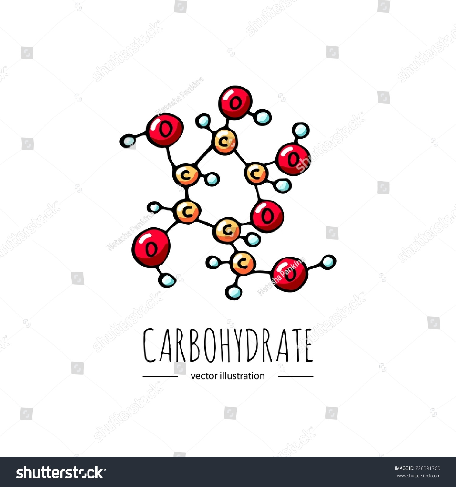 Hand drawn doodle carbohydrate chemical formula stock vector hand drawn doodle carbohydrate chemical formula icon vector illustration carbs dieting symbol cartoon sketch weight loss publicscrutiny